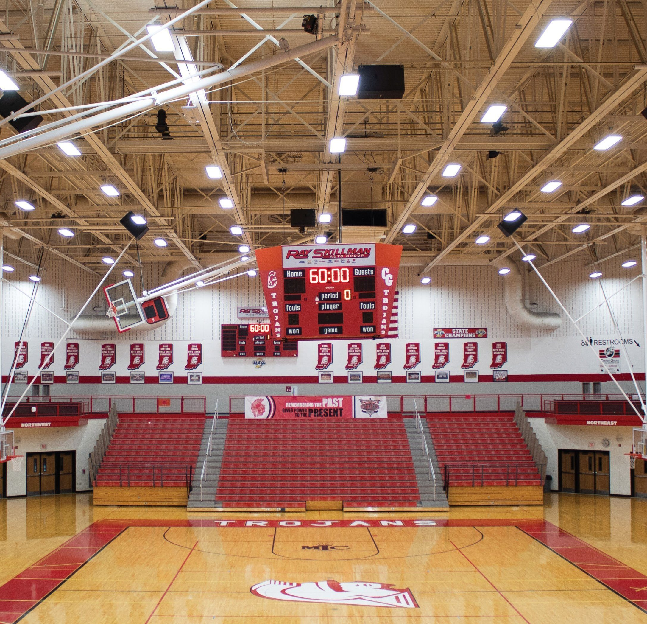 LED high bay lighting in gym